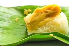 黏米饭泰国乳蛋糕 免版税库存照片