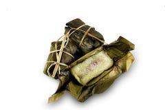 黏米饭泰国点心 库存照片