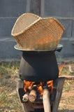 黏米饭烹饪器材 免版税库存图片
