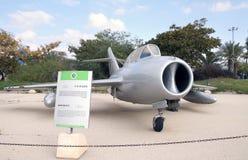 米高扬Gurevich米格-15 -喷气式歼击机航空器教练员 免版税库存照片