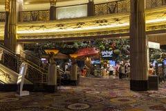 米高梅旅馆内部在拉斯维加斯, 2013年8月06日的NV 免版税库存照片