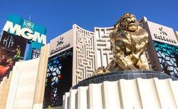 米高梅赌博娱乐场,拉斯维加斯 免版税库存图片
