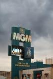 米高梅赌场酒店在拉斯维加斯 免版税库存图片