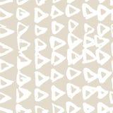 米黄传染媒介领带染料无缝的样式 抽象水彩 自然瓦片 库存例证