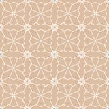 米黄几何装饰品 无缝的模式 免版税库存图片