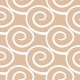 米黄和白色几何装饰品 无缝的模式 库存照片