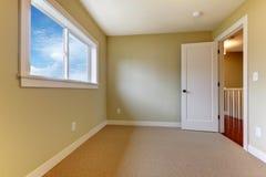 米黄地毯空的绿色新的空间 免版税库存图片