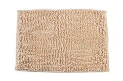 米黄地毯颜色擦鞋垫 免版税库存图片