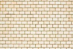米黄标志墙壁 库存图片