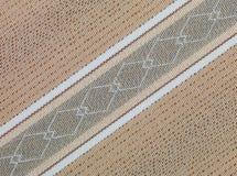 米黄棕色织品减速火箭的纹理 库存照片