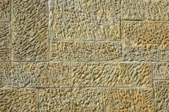 米黄灰泥墙壁 构造仿制砖砌 设计的空白 免版税图库摄影