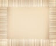 米黄画布框架缨子纹理 免版税库存照片