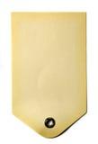 米黄礼品纸张标签 库存照片