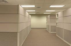 米黄立方体通用办公室开放工作区 免版税图库摄影