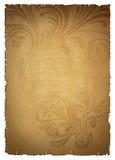 米黄老纸张 库存图片
