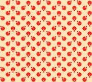 米黄花卉红色纹理 图库摄影