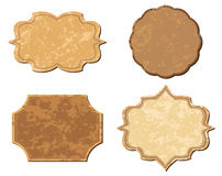 米黄葡萄酒向量框架-集 库存图片