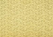 米黄葡萄酒墙纸 免版税库存图片