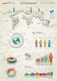米黄infographic 库存图片