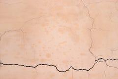 米黄墙壁纹理,背景上色了混凝土,水泥摘要 图库摄影