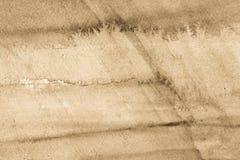 米黄水彩被绘的纹理背景 免版税库存照片