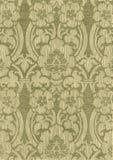 米黄抽象镶边花卉样式葡萄酒背景 免版税库存照片