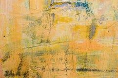 米黄抽象派绘画 免版税库存照片