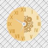 米黄时钟的传染媒介例证 图库摄影