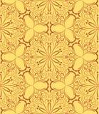 米黄花卉无缝的样式 免版税库存照片