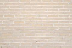 米黄难看的东西砖墙纹理背景 免版税库存图片