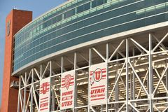 米Eccles体育场在盐湖城,犹他 库存图片