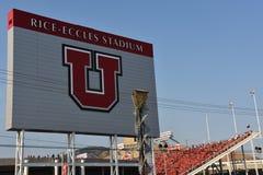 米Eccles体育场在盐湖城,犹他 免版税图库摄影