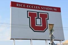 米Eccles体育场在盐湖城,犹他 免版税库存图片