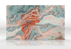 类似玛瑙的条纹大理石瓦片纹理 库存照片