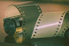 类推摄影35mm影片 免版税库存图片