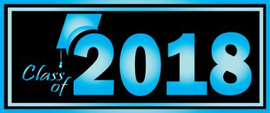 类2018蓝色和黑 免版税库存照片