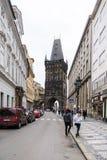粉末塔在布拉格,捷克 免版税图库摄影