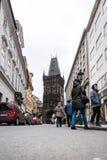 粉末塔在布拉格,捷克 库存图片