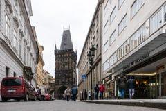 粉末塔在布拉格,捷克 免版税库存照片