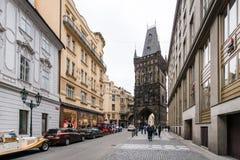 粉末塔在布拉格,捷克 库存照片