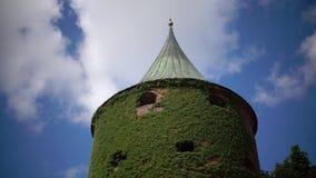 粉末塔在里加、拉脱维亚和最初镇的防御系统的部分位于 结构 股票录像