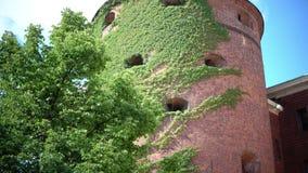 粉末塔在里加、拉脱维亚和最初镇的防御系统的部分位于 结构 影视素材