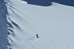 粉末滑雪 库存图片