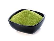 粉末绿茶 库存照片