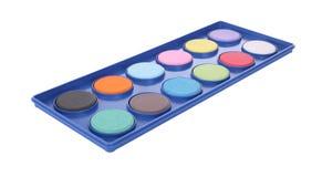 粉末色板显示塑料盘子 图库摄影