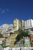 粉碎的基础设施街市萨尔瓦多巴西地平线  库存图片