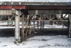 粉碎的基础设施 免版税库存图片