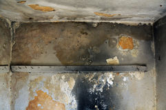 粉碎的墙壁 库存照片