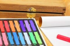 粉笔画柔和的淡色彩 免版税图库摄影