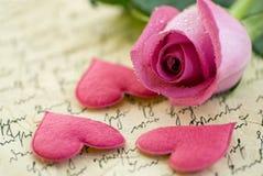 粉红色上升了 免版税库存照片
